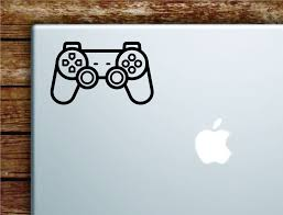 Gamer Controller Laptop Wall Decal Sticker Vinyl Art Quote Macbook App Boop Decals