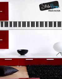 Piano Keys 88 Keys Black White Graphic Wall Decal Sticker 6026 Stickerbrand