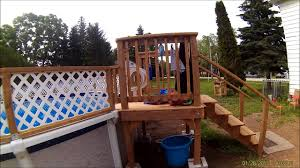 Home Made Pool Fence 27 Foot Above Ground Youtube