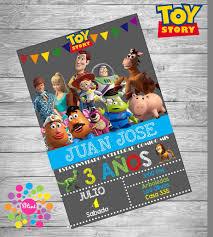 Invitacion De Cumpleanos Personalizada Toy Story Etsy