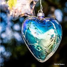 pearl heart hanging glass light