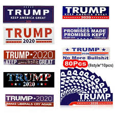 80x Donald Trump Car Stickers For 2020 American Presidential Election Keep America Great Bumper Stickers Car Sticker Wish