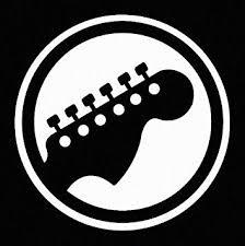 Amazon Com Guitar Player Vinyl Car Window Decal Sticker White Automotive