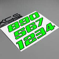 Xgs Decal Car Sticker Number Neon Fluorescent Double Layer Vinyl Cut Motorcycle Atv Helmet Sticker Outdoor Decal Car Stickers Aliexpress