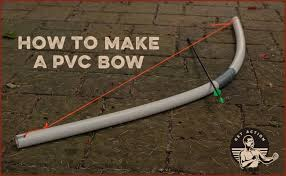 an archery bow out of pvc pipe