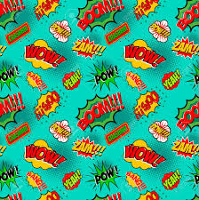 seamless pattern comic style phrases pop art style quotes