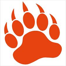 Amazon Com Grizzly Bear Paw Print 5 Orange Vinyl Decal Window Sticker For Laptop Ipad Window Wall Car Truck Motorcycle Home Kitchen