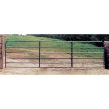 Behlen 10 Ft X 4 Ft 2 In 6 Rail Gray Powder Coated Tube Gate 40130107 The Home Depot