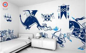 Knight And Dragons Wall Stickers For Boys And Kids Room