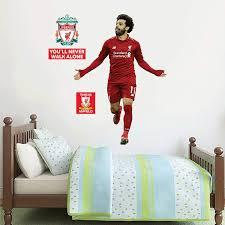 Amazon Com Official Liverpool Fc Mo Salah Goal Celebration Player Decal Lfc Wall Sticker Set Print Mural Vinyl Decal 120cm Height Baby