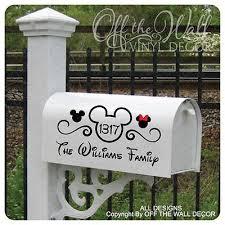 Disney Mickey Mouse Vinyl Mailbox Lettering Decoration Decal Sticker Mailbox Decals Mailbox Design Mailbox Decor