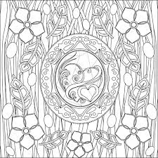 Coloring Pages For Adults Picture Love And Flower Black And