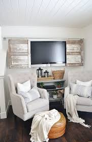 industrial pipe sliding barn door tv