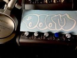 The Super Villain Mf Doom Throw Up Graffiti Tag Vinyl Decal Etsy