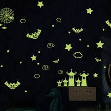 1111fourone Creative Vinyl Decal Happy Halloween Fluorescent Child Room Wall Sticker Walmart Com Walmart Com
