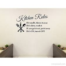 Black 22 X 13 Kitchen Rules Art Home Mural Wall Art Sayings Vinyl Sticker Decor Decal