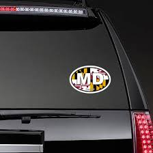 Maryland Md State Flag Oval Sticker