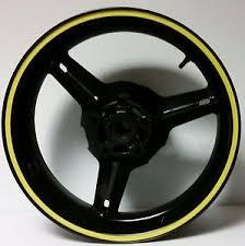 Mountain Bike Road Bicycle Rim Yellow Reflective Stripe Wheel Decal Tape Sticker Ebay
