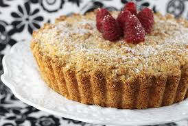 almond cake with ricotta date