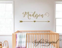 Wall Decals Personalized Names Nursery Wall Decal Kids Madison With Ar Surface Inspired Home Decor Wall Decals Wall Art Wooden Letters