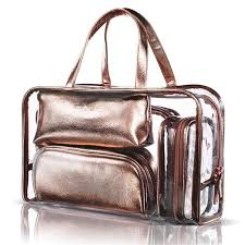cosmetic bag women paillette pvc