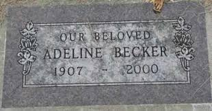 BECKER, ADELINE - Dakota County, Nebraska | ADELINE BECKER - Nebraska  Gravestone Photos