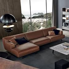 modern big l shape sectional leather sofa
