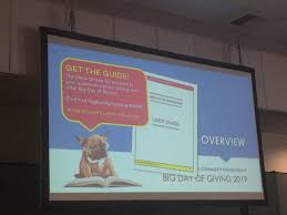 """Priscilla Enriquez on Twitter: """"Oohs and aahs for the #BDOG2019 User Guide!  Available online @bigdayofgiving… """""""