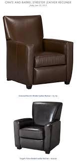 barrel streeter leather recliner