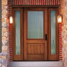 rustic fiberglass entry door
