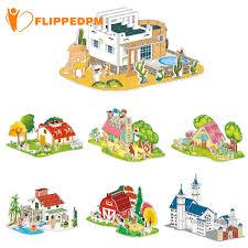 Bộ đồ chơi xếp hình ngôi nhà bằng giấy cho bé giảm chỉ còn 50,000 đ