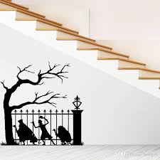 Halloween Wall Sticker Window Home Decoration Decal Decor Background Escape The Fence Devil Halloween Carved Wall Sticker Room Wall Decals Room Wall Stickers From Kissgirl 4 53 Dhgate Com