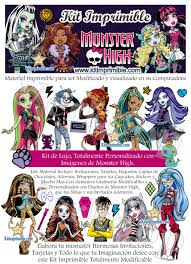Kit Imprimible Monster Highcurso Virtual
