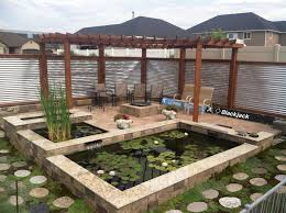 Koi Pond Pergola Galvanized Fence My Peaceful Place Garden Pond Design Patio Pond Ponds Backyard