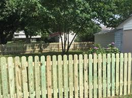 Dog Eared Picket Fence Deltaville Va Fence Scapes Llc