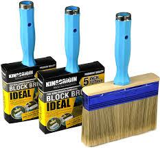 Amazon Com Kingorigin 3 Pack 4 5 6inch Heavy Duty Professional Stain Brush Paint Brush Paint Brushes Double Thick 1 2 Inch Fence Brush Paint Brush For Walls Painters Paint Brush Home Kitchen