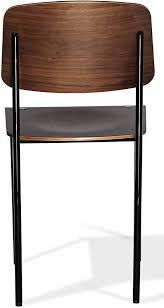 Amazon.com - Harmony Modern Priscilla Wood Dining Chair in a Plywood Walnut  Veneer Seat and Legs with a Black Frame - Chairs