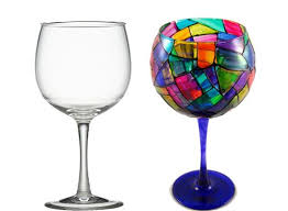 diy hand painted wine glasses with