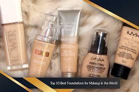 best foundations for makeup top ten list