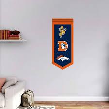 Amazon Com Fathead Nfl Denver Broncos Logo Evolution Wall Decal Sports Outdoors