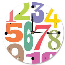 Amazon Com Stupell Home Decor Numbers Typography Wall Clock 12 X 0 4 X 12 Proudly Made In Usa Baby