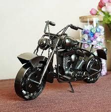 large handmade metal model motorcycles