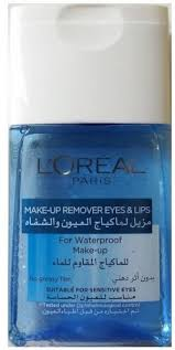 l oreal make up remover eyes lips for