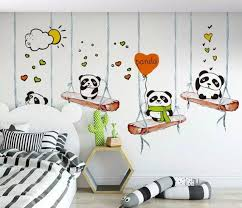 Pin By Kiki On Home Remodeling Do It Yourself Nursery Wall Murals Kids Wall Murals Panda Nursery