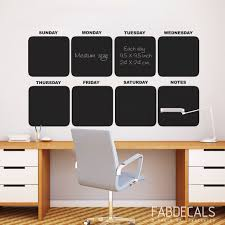 Chalkboard Calendar Wall Decal Weekly Large Dry Erase Monthly Art Big Vamosrayos