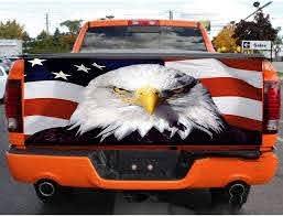 Practlsol Car Decals 1 Pcs American Flag Eagle Decal Rear Window De Fochutech