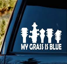 Hybrid Human Runs On Bluegrass Decal Music Car Truck Vinyl Sticker Graphic