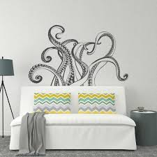 Octopus Tentacles Wall Decal Octopus Kraken Vinyl Wall Decal Etsy