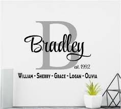 Personalized Family Name Vinyl Wall Decal Sticker Lettering Wall Decor Ebay