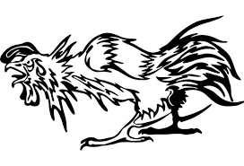 Fighting Chicken Rooster Spurs Car Truck Window Laptop Sign Vinyl Decal Sticker Wish